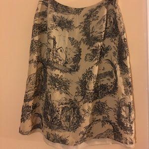 Vintage TRIO New York Skirt 100% Pure Silk